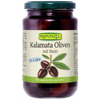 Oliven Kalamata violett, mit Stein in Lake