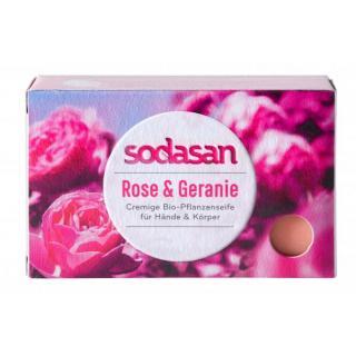 Stückseife Rose & Geranie
