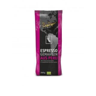 Espresso gemahlen aus Peru